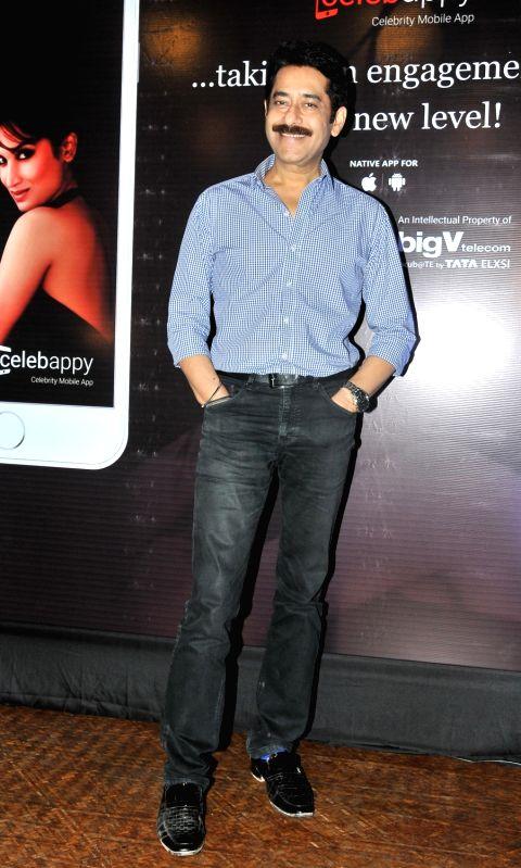 Ashok Shinde during the launch of mobile application, Smita Gondkar app, in Mumbai, on July 22, 2016.