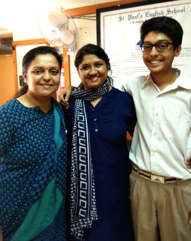 Ashwin Rao of St Paul's English School, Bengaluru who along with Muskan Abdullah Pathan of Pune's Hutchings High School was declared topper in ICSE exam on May 29, 2017. - Ashwin Rao