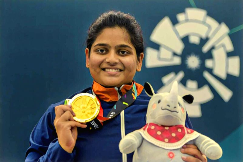 Asian Games champion and 2020 Olympic quota holder Rahi Sarnobat held off a formidable field to win the T12 women's 25 metre pistol trials event at the Karni Singh Shooting range here on Wednesday.