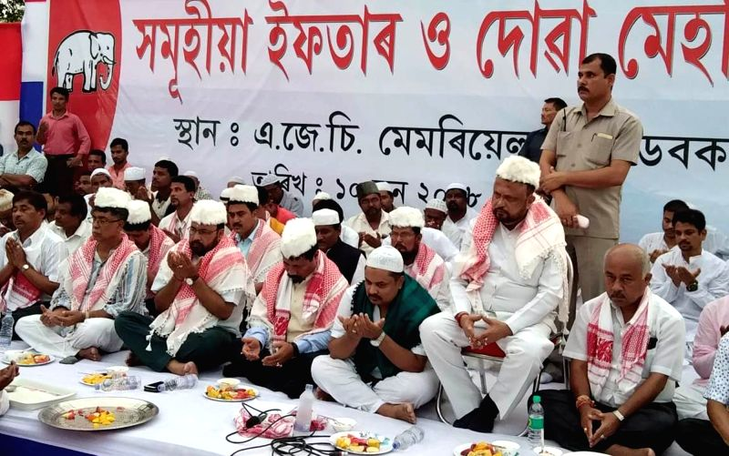 Asom Gana Parishad (AGP) leader Prafulla Kumar Mahanta during an Iftar party, in Assam's Hojai distrsict on June 10, 2018. - Prafulla Kumar Mahanta