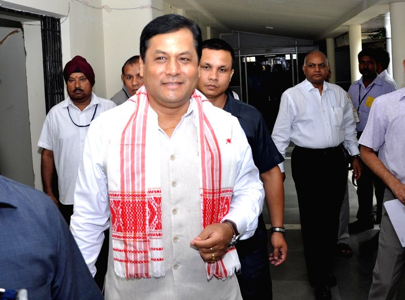 Assam Chief Minister Sarbananda Sonowal arrives to attend the Budget session at the Assam Legislative Assembly in Guwahati on July 18, 2016. - Sarbananda Sonowal
