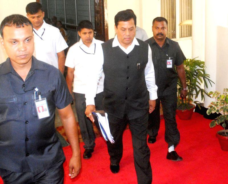 Assam Chief Minister Sarbananda Sonowal at the Assam Legislative Assembly in Guwahati on June 3, 2016. - Sarbananda Sonowal