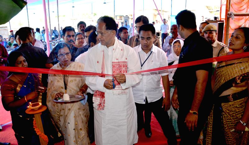 Assam Chief Minister Tarun Gogoi inaugurates newly constructed Titabor Nagar Samitee office in Titabor  on July 2, 2014. - Tarun Gogoi