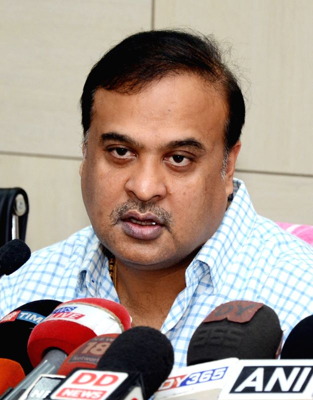 Assam Minister Himanta Biswa Sarma addresses a press conference in Guwahati on May 4, 2017. - Himanta Biswa Sarma
