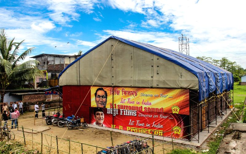 Assam's first touring cinema hall - `Digi Films`, an initiative to boost Assamese film industry, which is presently located at Daily Bazaar in Duliajan under district Dibrugarh of Assam on July 18, ..
