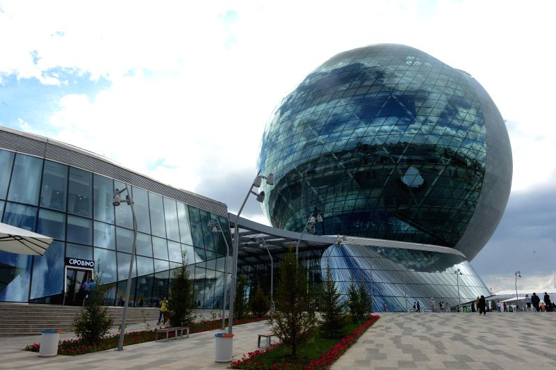 ASTANA, June 10, 2017 - People visit Expo 2017 in Astana, Kazakhstan, June 10, 2017. The Astana Expo 2017 is scheduled for June 10 to September 10, the first time for a Central Asian country to host ...