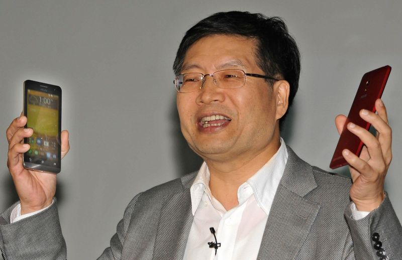 ASUS president and CEO Jerry Shen during a press conference organised to launch company's new smartphone in New Delhi on July 9, 2014.