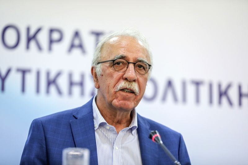 ATHENS, July 18, 2018 - Greek Migration Minister Dimitris Vitsas speaks during a press conference in Athens, Greece, on July 18, 2018. Greek Migration Minister Dimitris Vitsas urged on Wednesday all ... - Dimitris Vitsas
