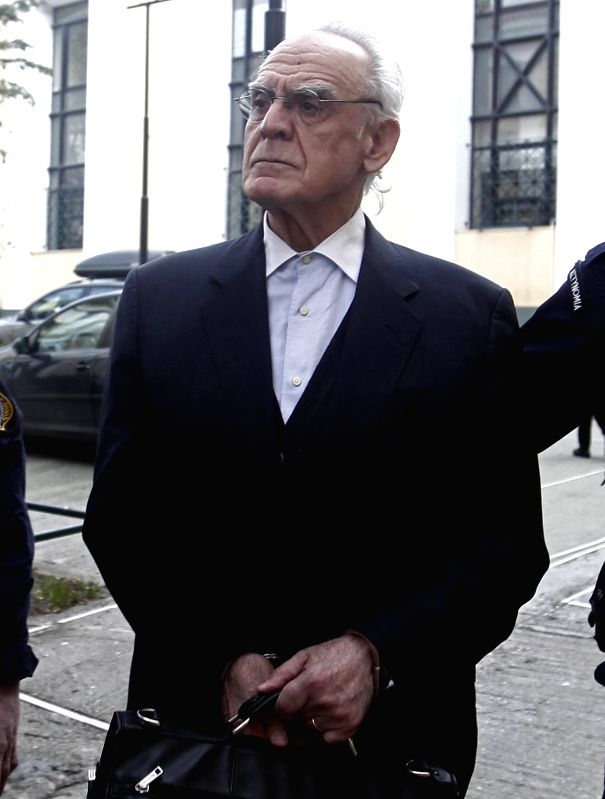 File photo taken on Oct. 7, 2013 shows the former Greek Defense Minister Akis Tzohatzopoulos. Akis Tzohatzopoulos was convicted of bribery in 2013 for bribes ... - Akis Tzohatzopoulo