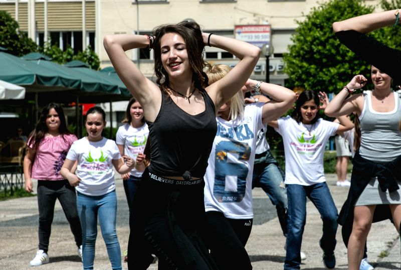 ATHENS, May 1, 2017 - People dance to celebrate International Dance Day at Klafthmonos square in Athens, Greece, April 29, 2017. Hundreds of dance lovers of all ages gathered in several main squares ...