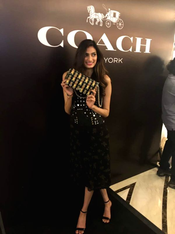 athiya shetty launches coach store in capital. Black Bedroom Furniture Sets. Home Design Ideas