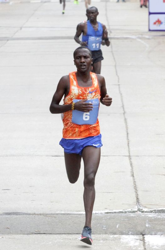 Athlete Alex Korio in action during TCS World 10K 2017 in Bengaluru on May 21, 2017.