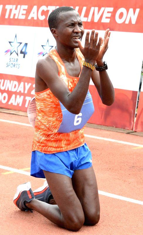 Athlete Alex Korio (winner) during TCS World 10K 2017 in Bengaluru on May 21, 2017.