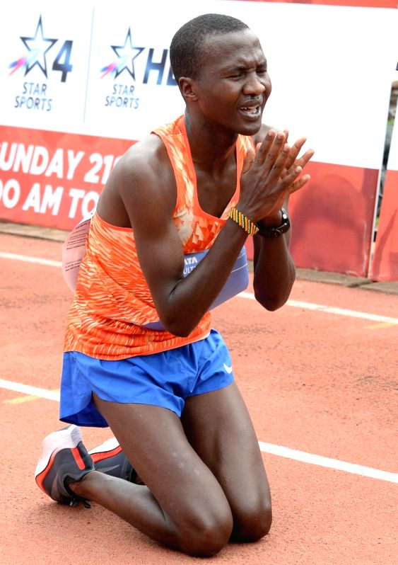 Athlete Alex Korio (winner) during TCS World 10K 2017 in Bengaluru on May 21, 2017.