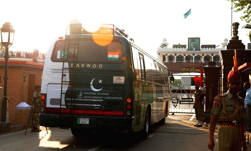 Delhi-Lahore passengers have to change buses at a restaurant in Pakistan close to the Wagah-Attari border since Jan 2, 2015 as the bus services are available only till the border in Punjab. .