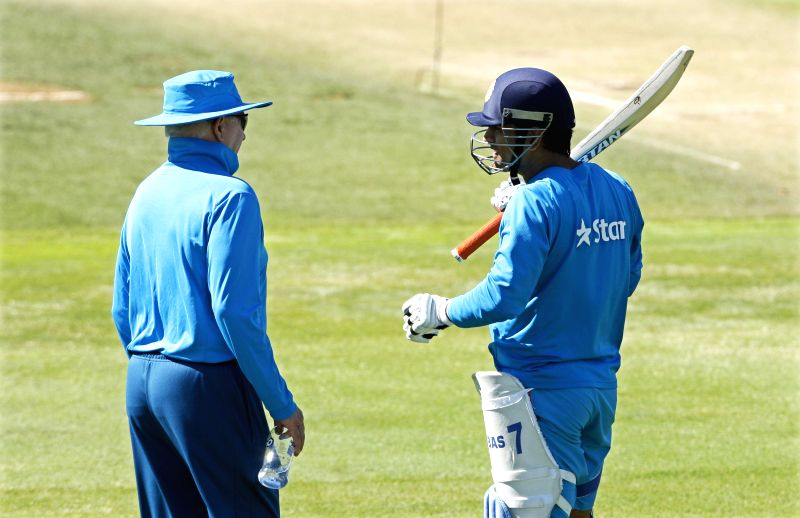 Indian cricketer Rohit Sharma during a practice session ahead of an ICC World Cup - 2015 match against Zimbabwe at the Eden Park in Auckland, New Zealand  on March 13, 2015. - Rohit Sharma