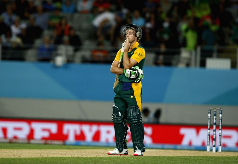 outh African captain AB de Villiers during an ICC World Cup 2015 match between Pakistan and South Africa at Eden Park, Auckland, New Zealand on March 7, 2015.