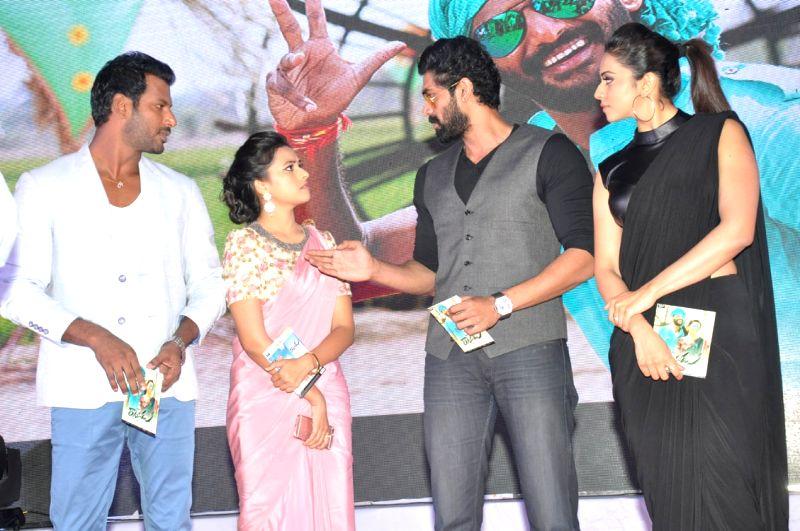 Audio release functions of Telugu film Rayudu in Hyderabad on May 11, 2016..