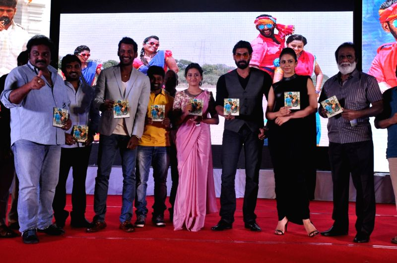 Audio release functions of Telugu film Rayudu in Hyderabad on May 11, 2016..