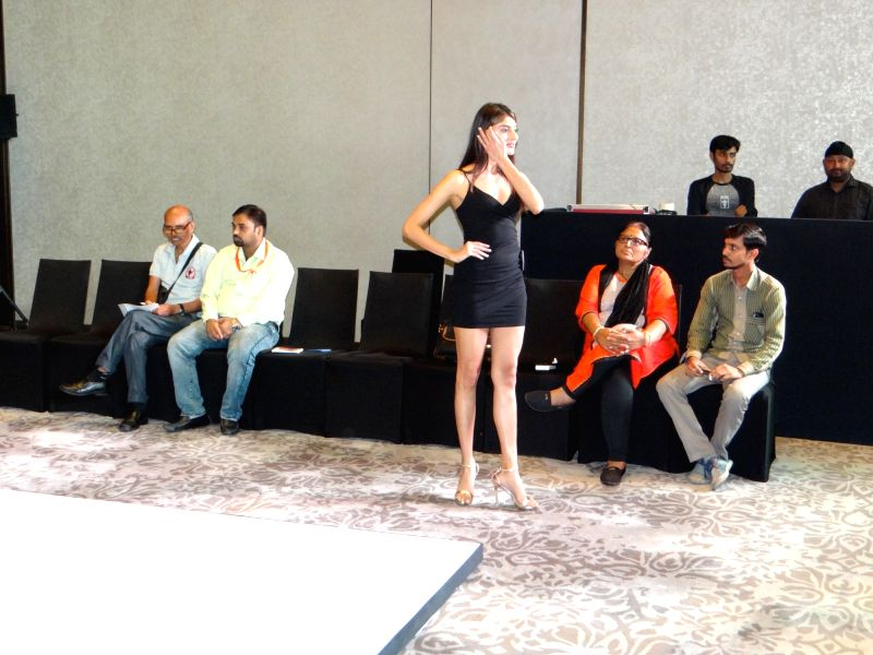 Auditions for Miss Universe India 2018 underway in New Delhi on July 21, 2018.