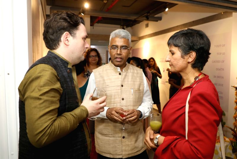 Australian High Commissioner to India Harinder Sidhu, UNSW Pro-Vice Chancellor (Int'l) Laurie Pearcey and Manish, Joint Secretary in the Ministry of External Affairs at the opening of ...