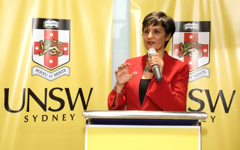 Australian High Commissioner to India Harinder Sidhu speaking at the opening of new centre of University of New South Wales, Sydney at New Delhi on July 17, 2018.