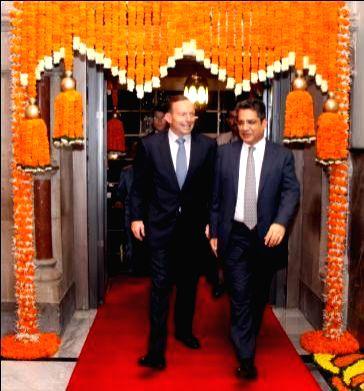 Australian Prime Minister Tony Abbott at the Taj Mahal Palace in Mumbai on Sept 4, 2014. - Tony Abbott