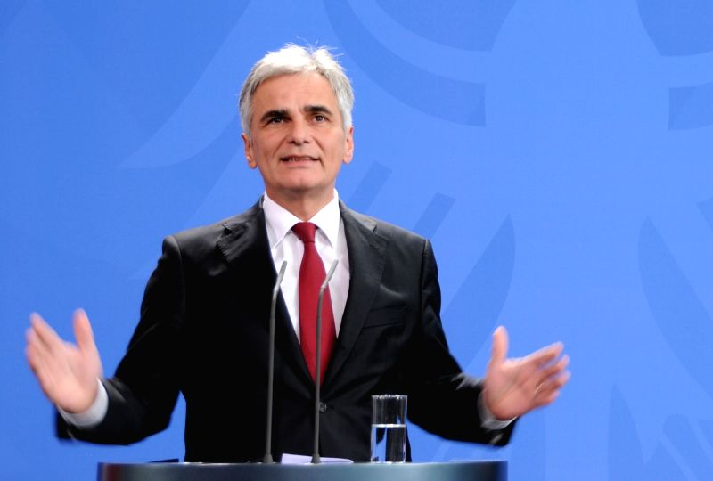 Austria Chancellor Werner Faymann. (File Photo: IANS)