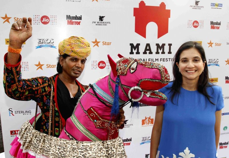 Author Anupama Chopra during the premiere of film `Dhanak` at Jio MAMI 17th Mumbai Film Festival in Mumbai on Oct 29, 2015. - Anupama Chopra