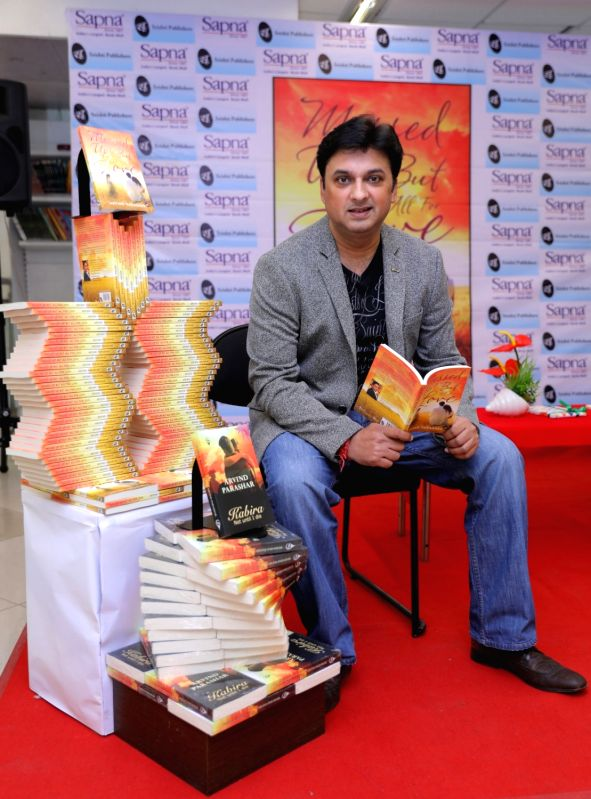 Author Arvind Parashar during the release of his book 'Messed up! But all for Love' in Bengaluru on May 6, 2017.