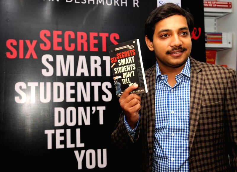 Author Chandan Deshmukh during launch of his book `Six Secrets Smart Students Don't Tell You` in Bangalore on July 19, 2014. - Chandan Deshmukh