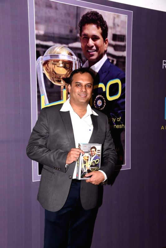 "Author Devendra Prabhudesai during the launch of book ""Hero: A Biography of Sachin Ramesh Tendulkar"" in Mumbai on April 28, 2017."