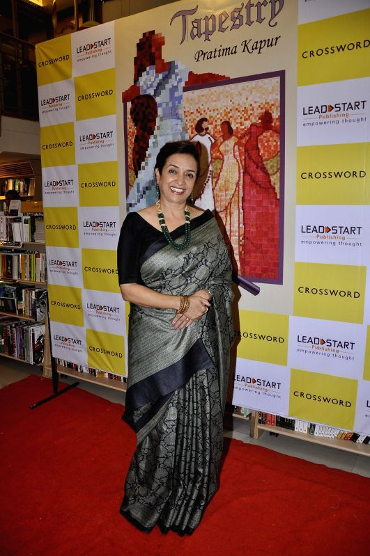 Author Pratima Kapur during the launch of book Tapestry in Mumbai on May 15, 2014.