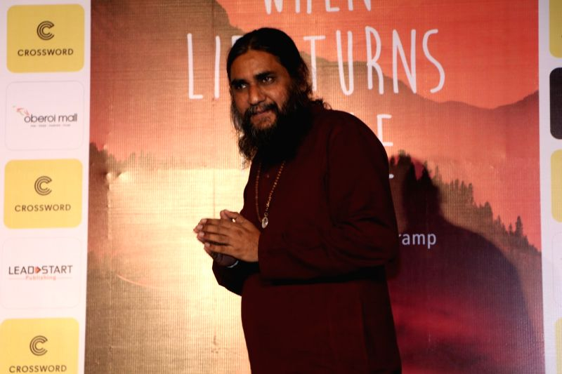 Author Raj Supe during the book launch of When Life Turns Turtle by author Raj Supe in Mumbai on July 27, 2016.