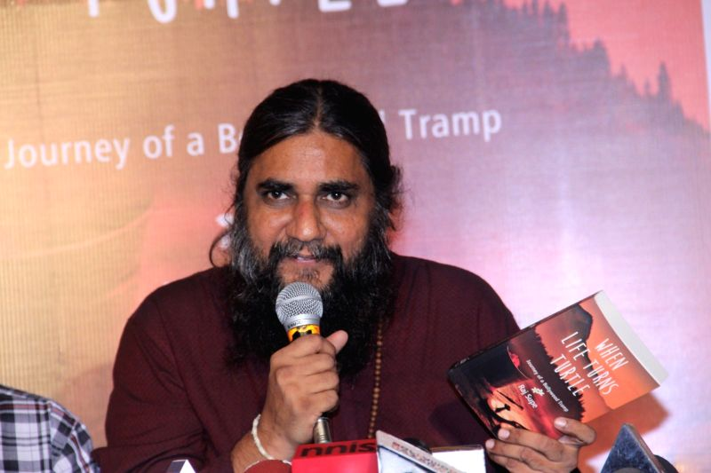 Author Raj Supe during the book launch of When Life Turns Turtle by author Raj Supe, in Mumbai on July 27, 2016.