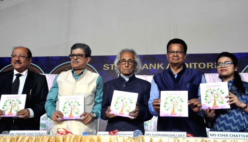 Author Sanjib Chattopadhyay releases a book 'Swarnakshar' at International Kolkata Book Fair on Feb 2, 2018.