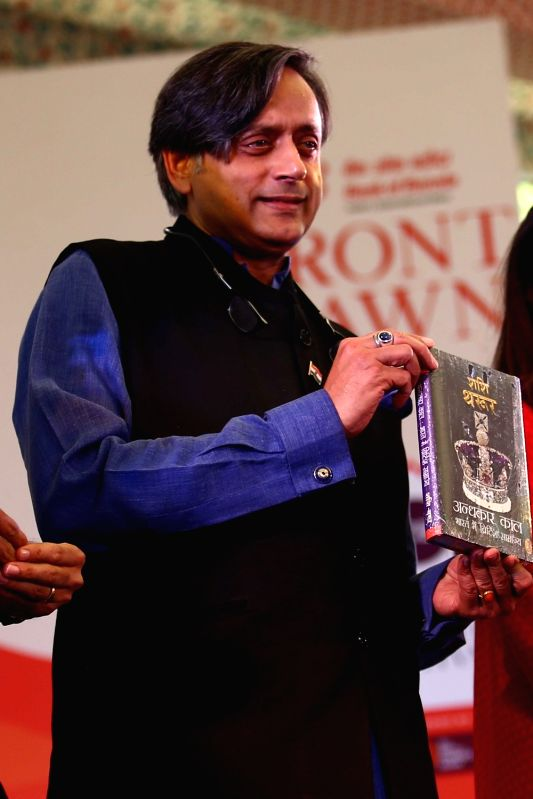 Author Shashi Tharoor during Jaipur Literature Festival 2018 in Jaipur on jan 28, 2018. - Shashi Tharoor