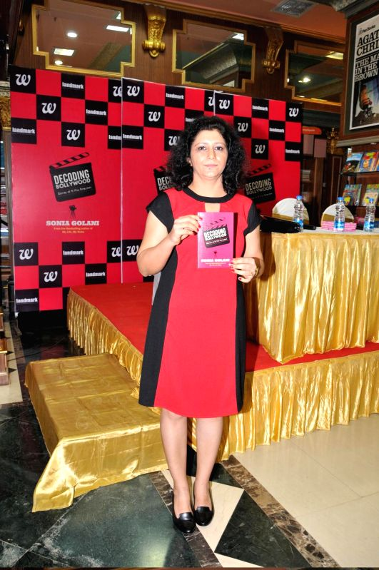 Author Sonia Golani seen during the launch of her book Decoding Bollywood in Mumbai, on Aug 28, 2014.