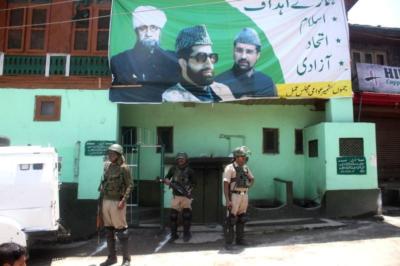 """Authorities imposed restrictions in parts of Srinagar's Old City as separatists observed a """"martyrs week"""" in the Kashmir Valley in memory of two senior leaders on May 20, 2017. ..."""