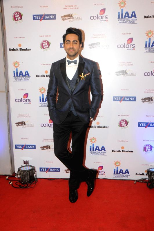 Ayushman Khurana during the International Indian Achiever`s Award 2014 presented by YES BANK in Mumbai on July 27, 2014.