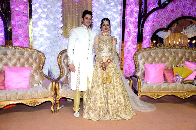 Azhar Morani and Tanya Seth at their wedding reception in Mumbai on Feb. 9, 2019. - Tanya Seth