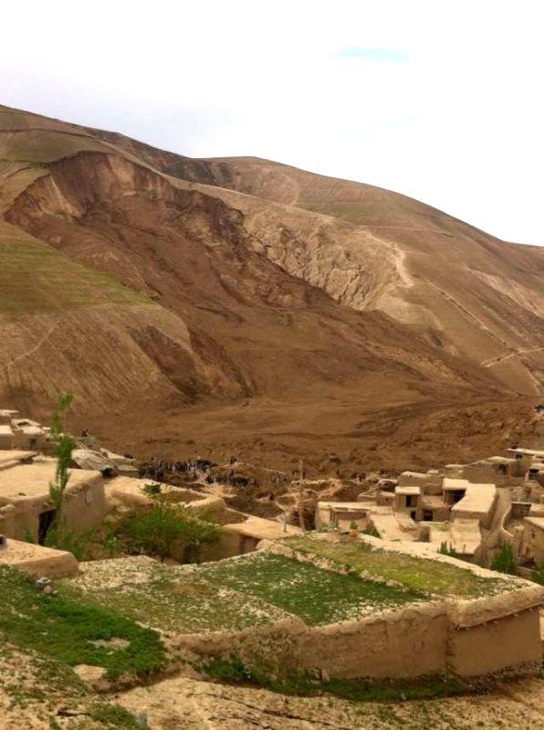 Photo taken on May 3, 2014 shows a scene of the landslide area in Aab Bareek, Badakhshan, Afghanistan. A massive landslide hit a village in northern Afghan ...