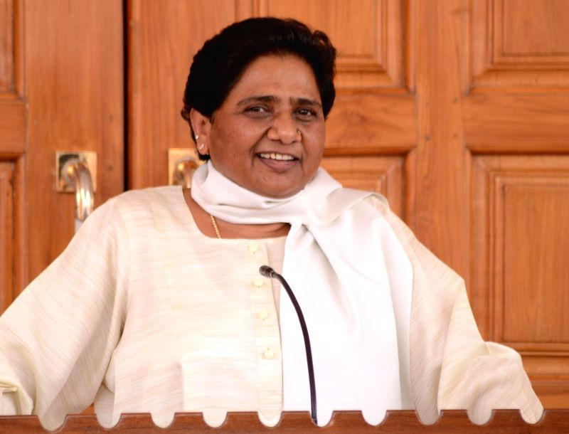 Bahujan Samaj Party (BSP) chief Mayawati during a press conference in Lucknow on May 17, 2014.