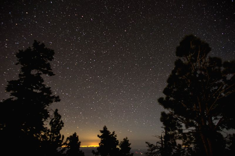 Photo taken on May 3, 2014 shows stars above the Sierra de San Pedro Martir National Park in the Baja California Peninsula, Mexico. Located in the northern ...