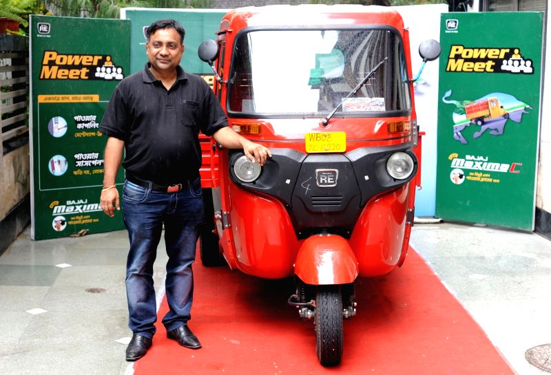 Bajaj Commercial Vehicles Regional Head (West Bengal and North East) Neeraj Khandelwal during the launch of three-wheeler cargo carrier Maxima C, in Kolkata on Aug 2, 2016.