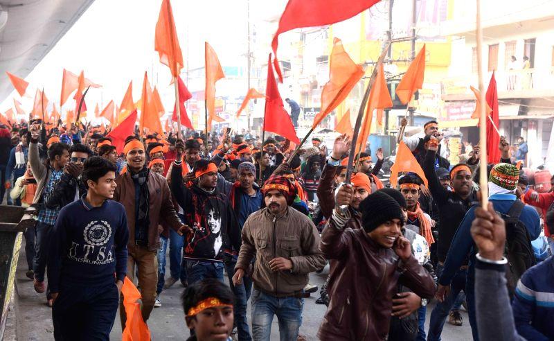 Vivekananda's birth anniversary - Bajrang Dal procession