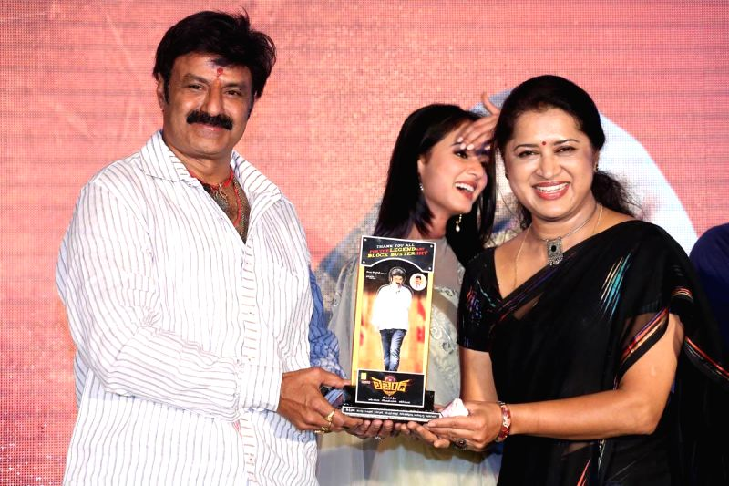 Balakrishna, Sonal Chowhan, Radhika Pandit acted Legend film success meet held at Ramanaidu Studios of Hyderabad on Thursday 10th April 2014, night.