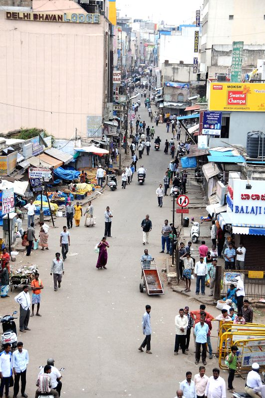 Bangalore streets wear a deserted look as Kannada outfits call for a 12-hour strike against crime against women on July 31, 2014.