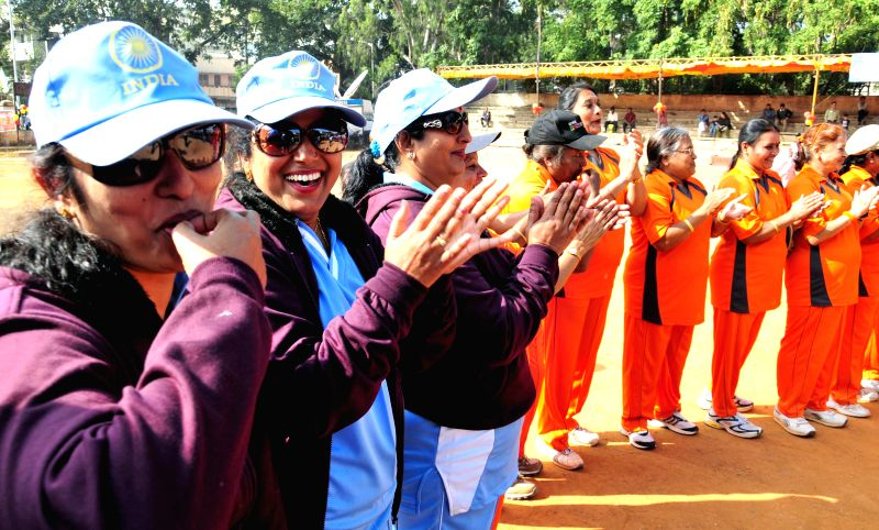 Women cricketers during the inauguration of  a cricket tournament in Bengaluru on Dec. 27, 2014.