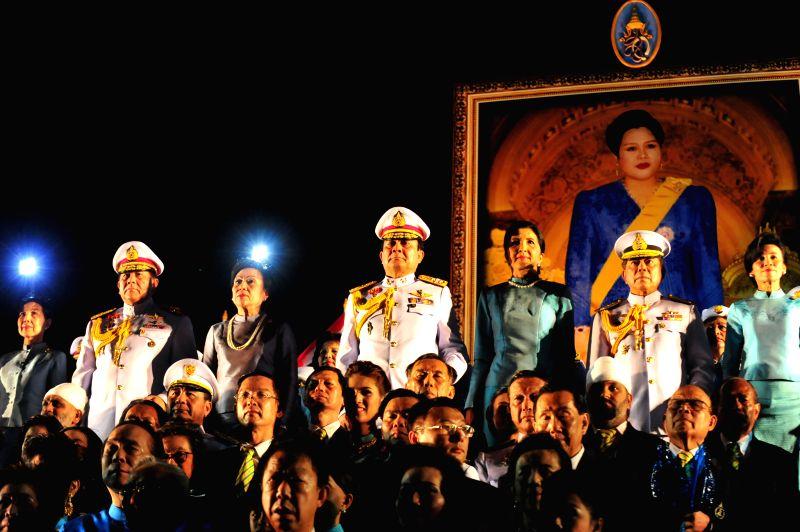 Thai Army Chief Gen. Prayuth Chan-ocha (C) presides over the celebration for Thai Queen Sirikit on her 82nd birthday in Bangkok, Thailand, Aug. 12, 2014. Thailand ..